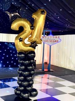 'Vegas' 21 Column in Black & Gold
