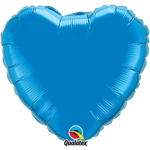"Sapphire Blue 18"" Foil Heart Balloon"