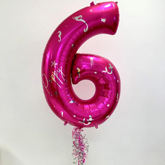 Under The Sea Themed Magenta Pink Number 6