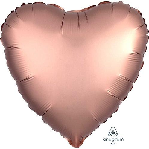 "Rose Copper Satin 18"" Foil Balloons"