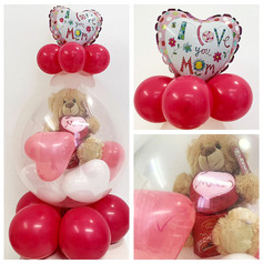 Stuffed Balloon with Mini Balloon Topper