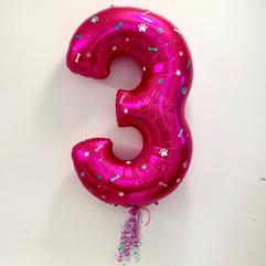 Paw Patrol Inspired Magenta Pink Number 3