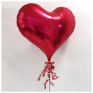 Red Plain Jelly Foil Ribbons