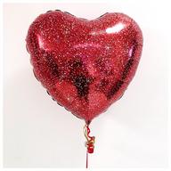 Red Glitter 18 inch Foil Heart