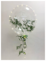 Fern Filled Bubble Balloon
