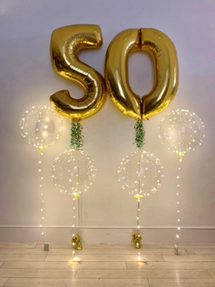 Gold 50 with extra ribbons