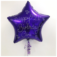 Large Glitter Purple Star