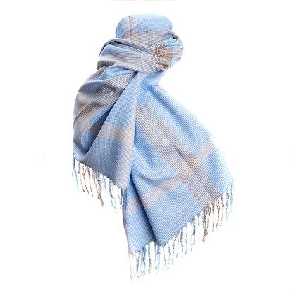 Bufanda escocesa con flecos