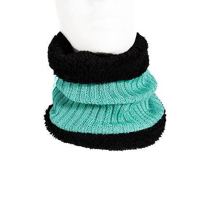 Cuello de lana con piel