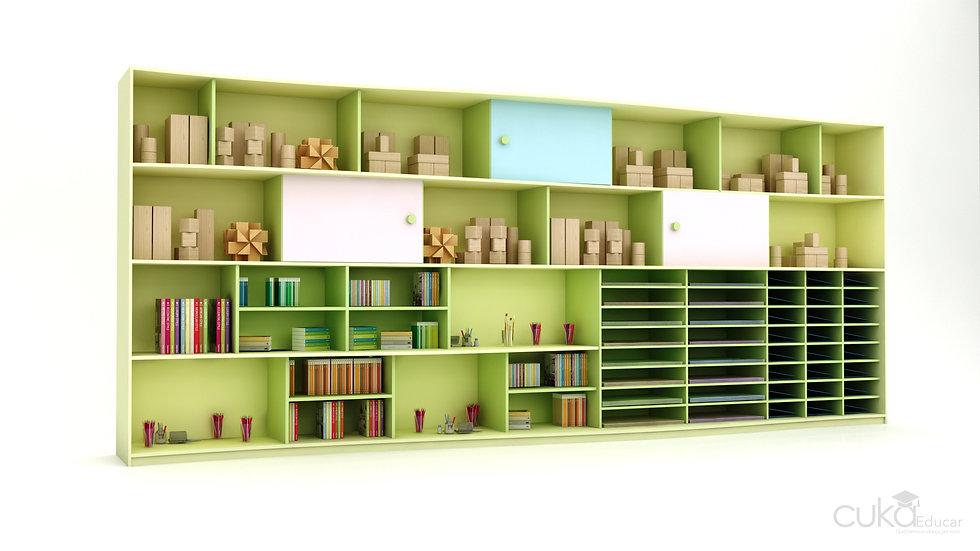 Estante/Biblioteca Infantil com Portas