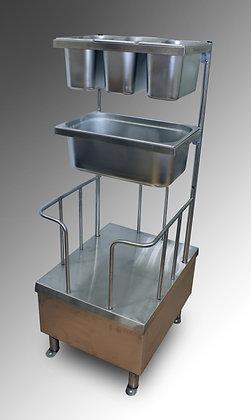 Стойка хранения столовых приборов и подносов ЛРС-П