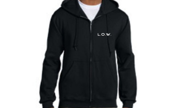 L.O.W. Records- Official Zip Up Hoodie