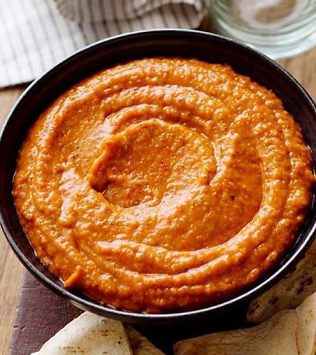 ROASTED RED PEPPER HUMMUS (32OZ)