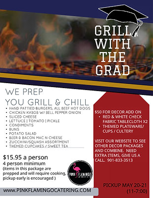 GRILL WITH THE GRAD C/O 2020 - FOOD PACKAGE