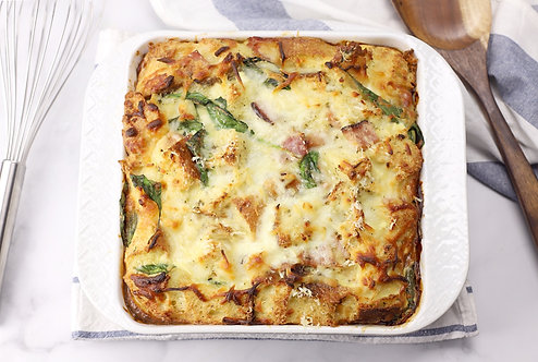 HAM & SPINACH BREAKFAST STRATA