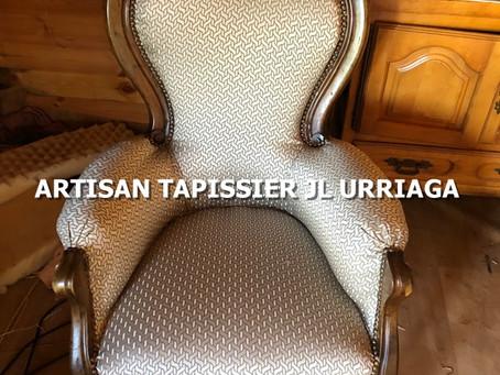 Réalisations : Retapissage de fauteuil et de chaise