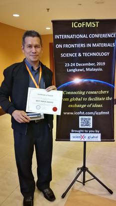 2) Best Paper Award - Assoc. Prof. Dr. Y