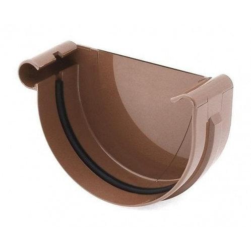 Заглушка ринви ліва Bryza L 125 мм коричневий