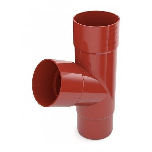 Трійник труби Bryza 100 245х90,2х90,2х84,5 мм червоний