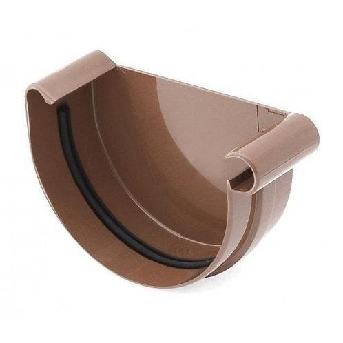 Заглушка ринви права Bryza R 100 мм коричнева