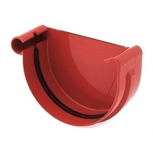 Заглушка ринви ліва Bryza L 75 мм червоний