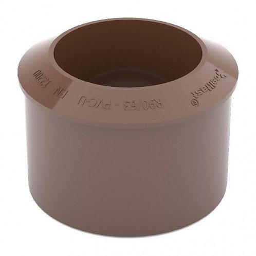 Перехідник труби Bryza 90,2х110 мм коричневий