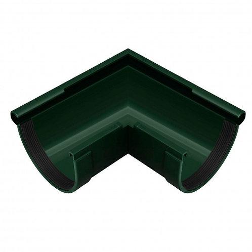 Кут ринви зовнішній  Rainway 90 градусів 130 мм зелений
