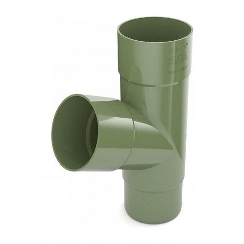 Трійник труби Bryza 125 245х90,2х90,2х84,5 мм зелений