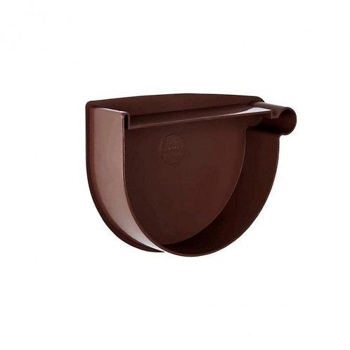 Заглушка воронки права Rainway 90 мм коричнева