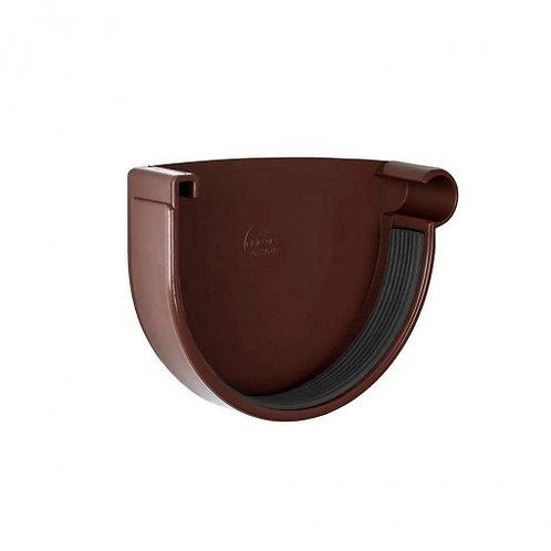 Заглушка ринви права Rainway 90 мм коричнева