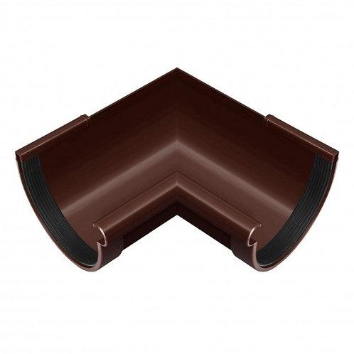 Кут ринви внутрішній Rainway 90 градусів 130 мм коричневий