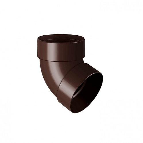 Відведення двомуфтове Rainway 67 градусів 100 мм коричневе