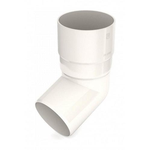Коліно труби Bryza 150 67 градусів 110,4х218х104,5 мм білий