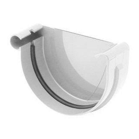 Заглушка ринви ліва Bryza L 150 мм білий
