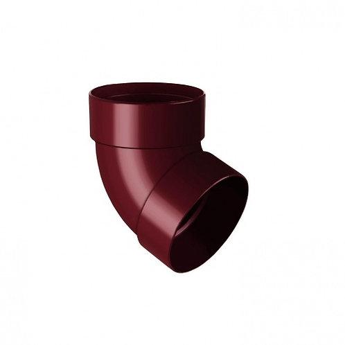 Відведення двомуфтове Rainway 67 градусів 75 мм червоне
