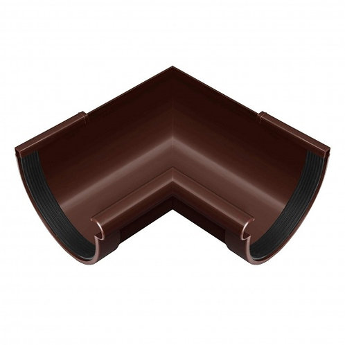 Кут ринви внутрішній Rainway 90 градусів 90 мм коричневий