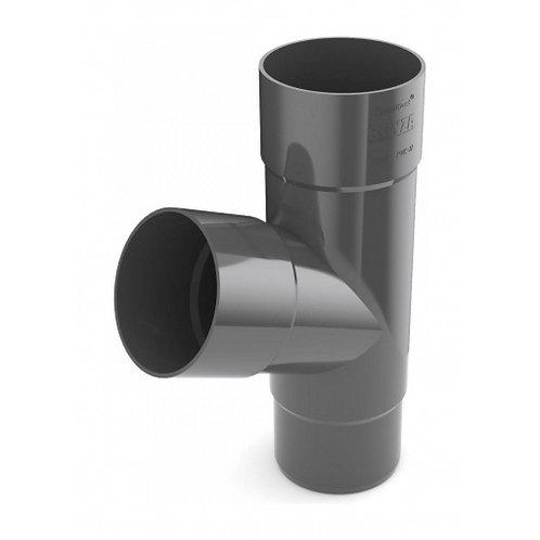 Трійник труби Bryza 125 245х90,2х90,2х84,5 мм графіт