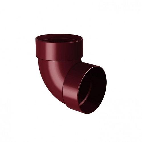 Відведення двомуфтове Rainway 87 градусів 75 мм червоне