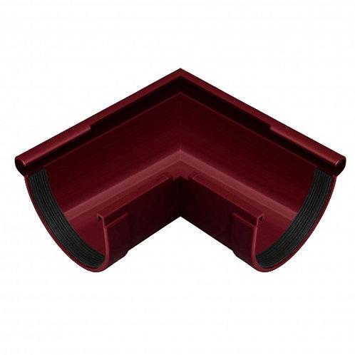 Кут ринви зовнішній Rainway 90 градусів 130 мм червоний