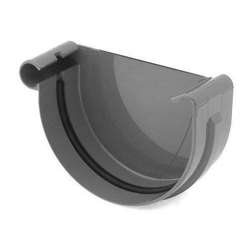 Заглушка ринви ліва Bryza L 100 мм графіт