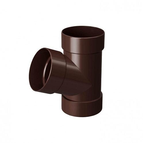 Трійник Rainway 67 градусів 100х100 мм коричневий
