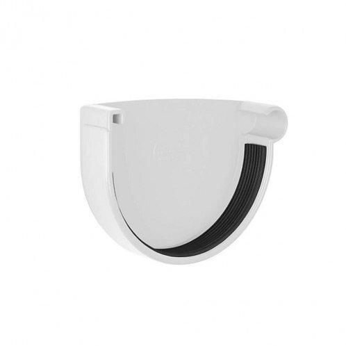 Заглушка ринви права Rainway 90 мм біла