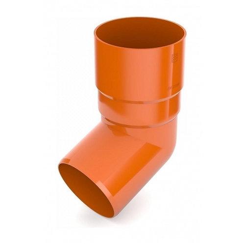 Коліно труби Bryza 75 67 градусів 63,3х147х57,5 мм цегляний