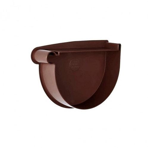 Заглушка воронки ліва Rainway 90 мм коричнева