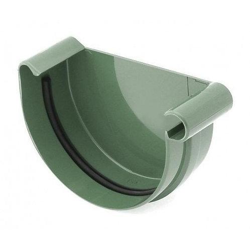 Заглушка ринви права Bryza R 75 мм зелений