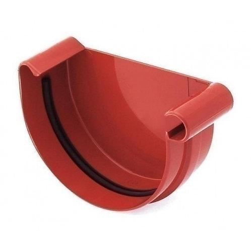 Заглушка ринви права Bryza R 100 мм червоний