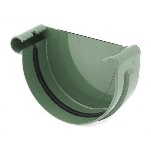 Заглушка ринви ліва Bryza L 125 мм зелений