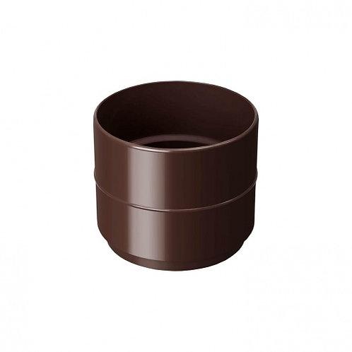 Муфта водостічної труби Rainway 100 мм коричнева