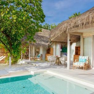 Семейные виллы с двумя спальнями на курорте Kanuhura 5* Мальдивы —роскошный отдых для самых близких