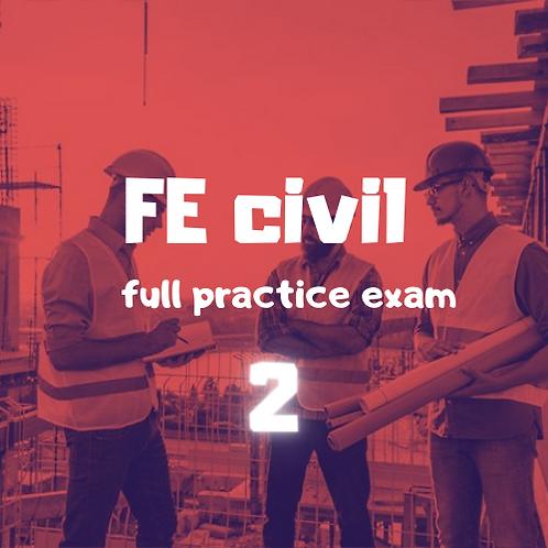 FE Civil  full Practice Exam module 2